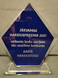 Järvamaa aasta haridusteo preemia sai väikeste kodu-uurijate üle-eestiline konkurss.