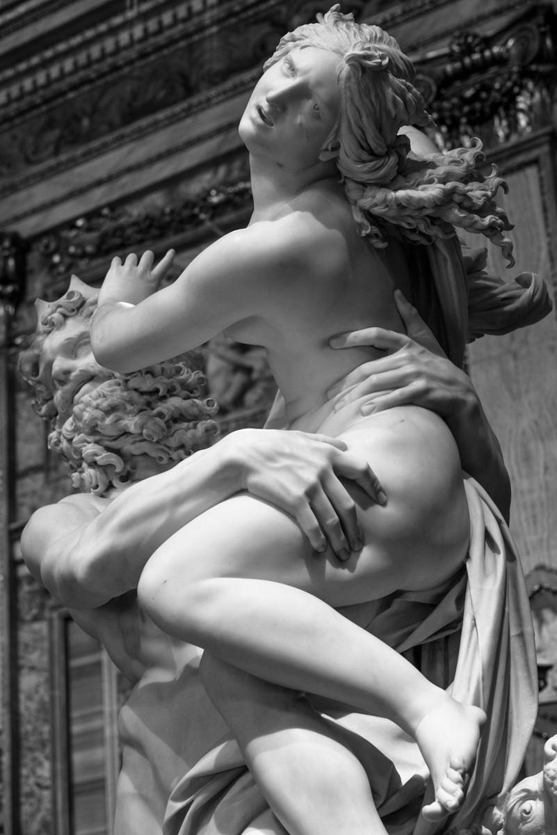 Ratto di Proserpina, by Gianlorenzo Bernini. Detail. Roma, Galleria Borghese, 2017