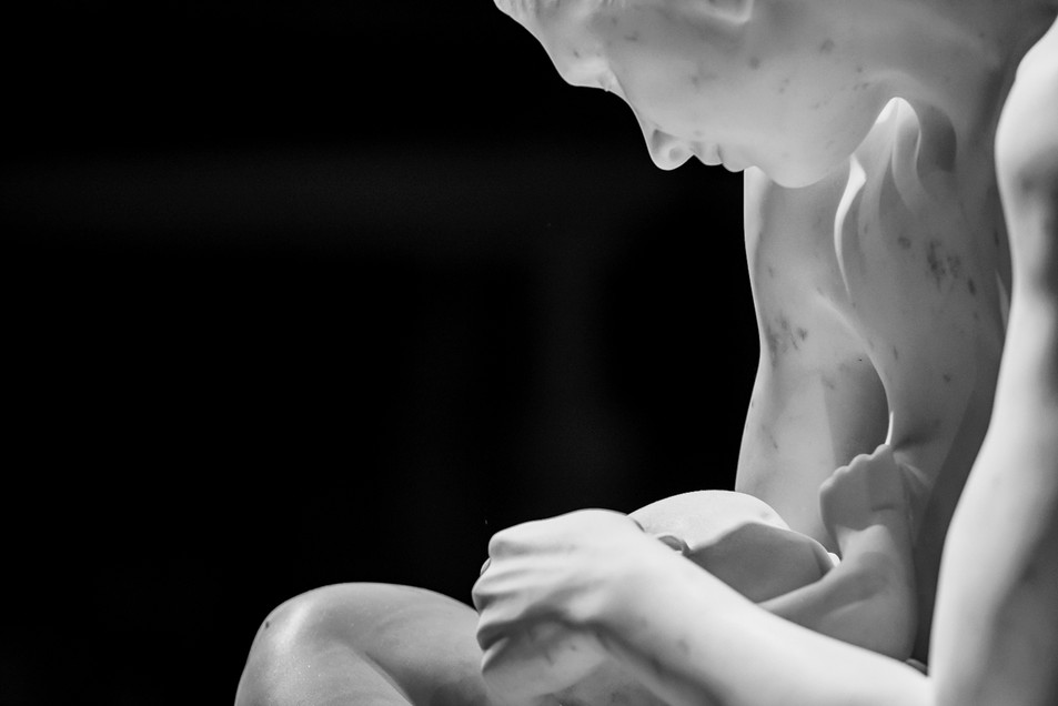 """""""Mother and Child"""", Paddy Campbell (detail). Pietrasanta, 2018"""