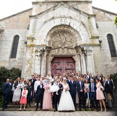 Sortie mariée église