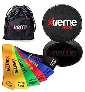 Xtreme Resistance Band Loops and Core Excercise Sliders.JPG