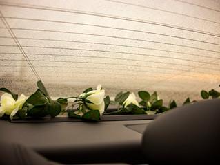 Inside our Maserati wedding car