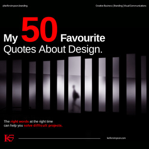 My 50 Favourite Quotes About Design