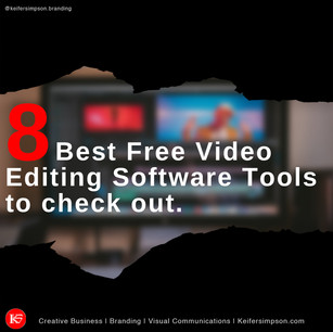 8 Best Free Video Editing Software Tools to check out.