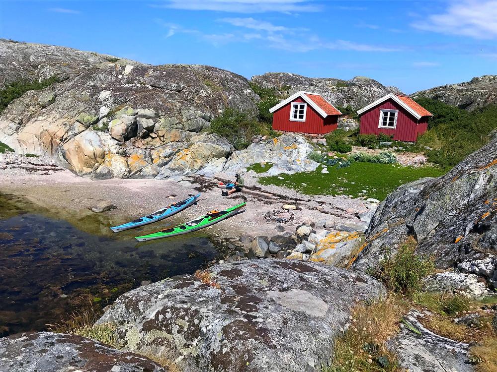 Kajakpaddling vid Väderöarna