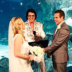 """John """"Elvis"""" Collins and his wife Alison appeared on channel 10's """"Dont tell the Bride"""" performing a surprise Elvis Wedding for Shannon and Jay inside the Aquarium at Darling Harbour Sydney...now that was a Wedding with a Difference"""
