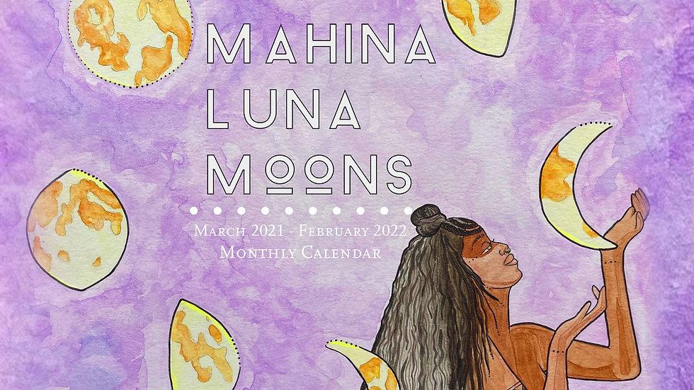 Mahina Luna Moons 12 month calendar