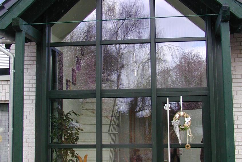 Treppenhaus Glasfassade