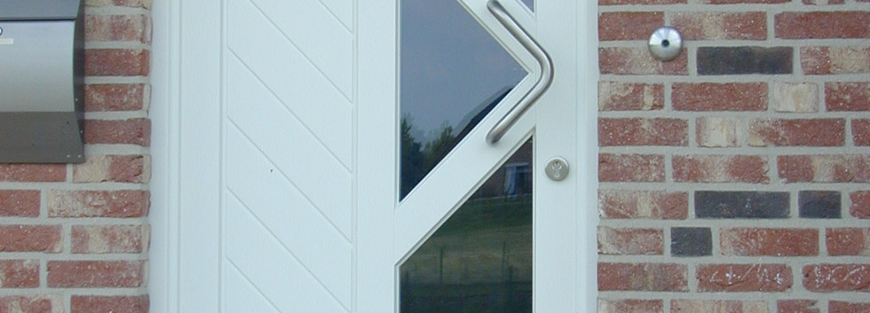 Rahmentür mit Schrägsprossen