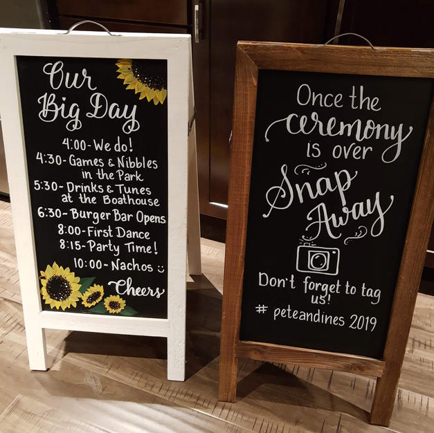 Double Sided Chalkboards