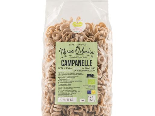 Pasta di semola integrale di grano duro Campanelle