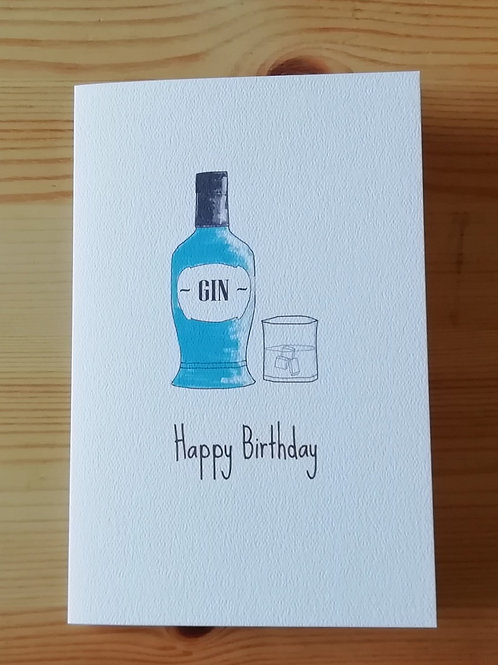 Happy Birthday Gin card