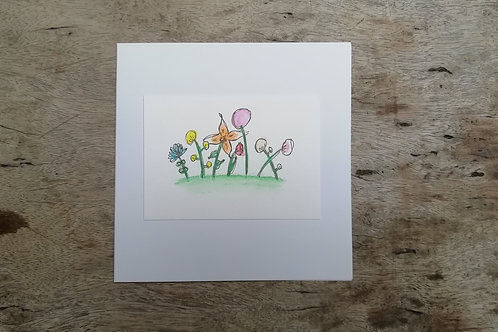 Floral notelet cards 5 pack