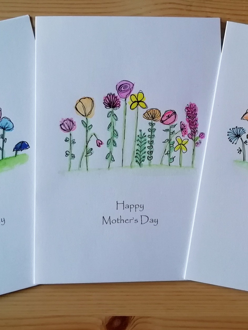 Mothers Day hand-painted floral