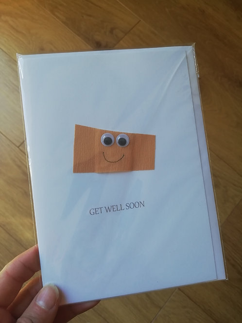 Get Well Soon plaster card