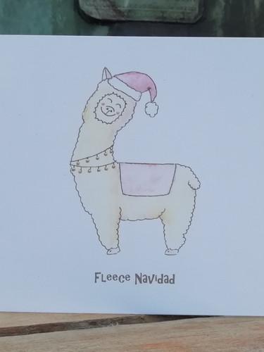 Fleece Navidad Alpaca 1
