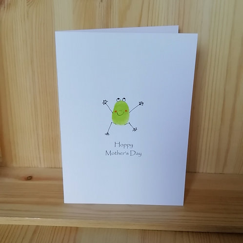 Hoppy Mother's Day frog card
