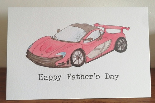 Father's Day Racing Car