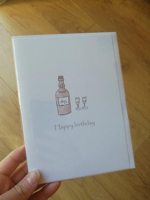 Happy Birthday Port card