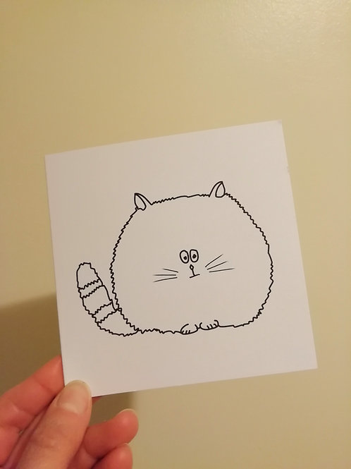 Grumpy Cat blank greeting card