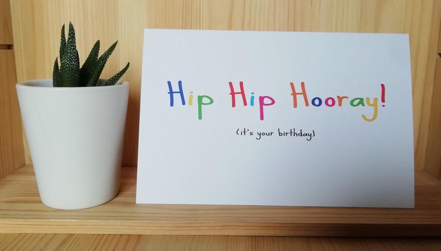 Hip Hip Hooray birthday card
