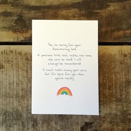 Baby loss sympathy card