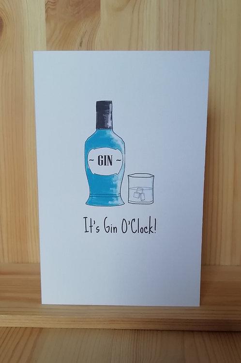 Gin o'clock card