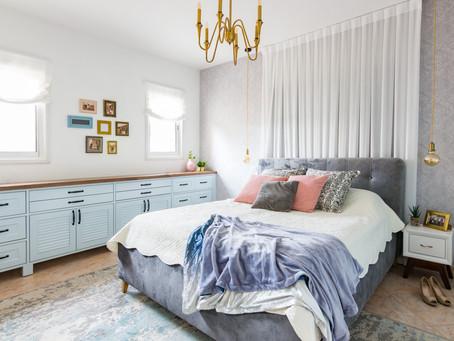 """קצת אהבה לא תזיק- חדר שינה בעיצובי במגזין """"בניין ודיור"""""""