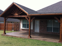PATIO COVER AND STAMPED CONCRETE