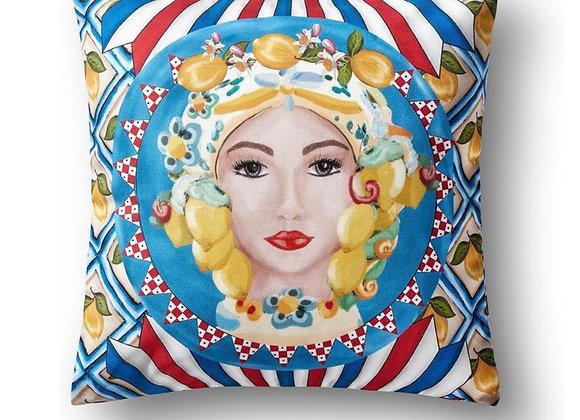 Positano Yastık Kadın Yüz Desenli 43*43 cm