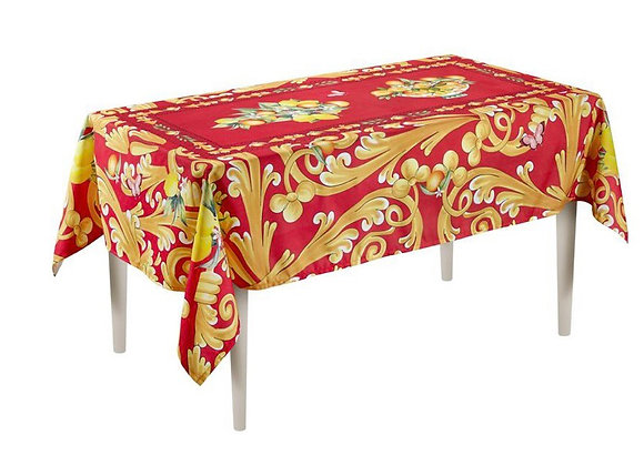 Capri Masa Örtüsü Kırmızı Desenli 150*230 Cm