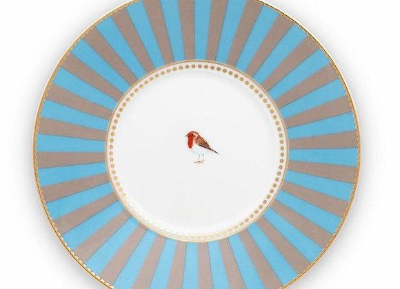 Love Bird Tabak 21 Cm, Mavi / Haki