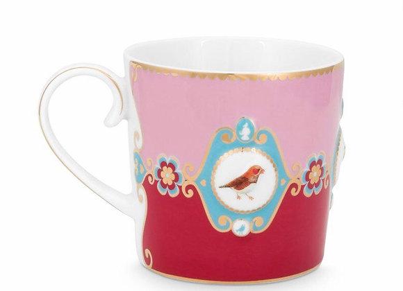 Love Bird Küçük Mug, Kırmızı/Pembe
