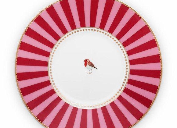 Love Bird Tabak 21 Cm, Kırmızı / Pembe