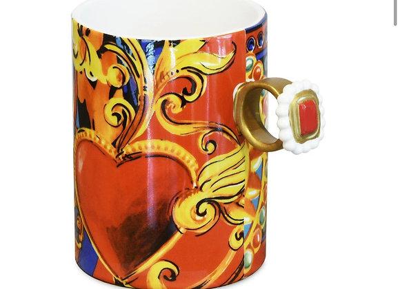 Gio Kalpli Türk Kahvesi Fincanı, Kırmızı, H 6,5 CM