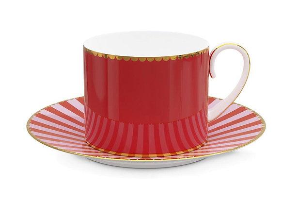 Love Bird Kırmızı Kahve Fincanı 125 ml.