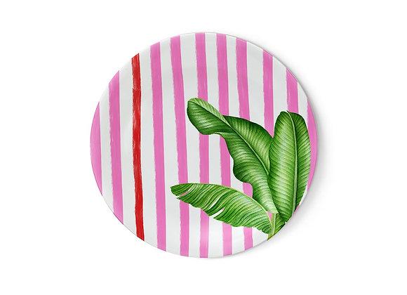 Miami Pink Beach Collection Melamin Küçük Tabak