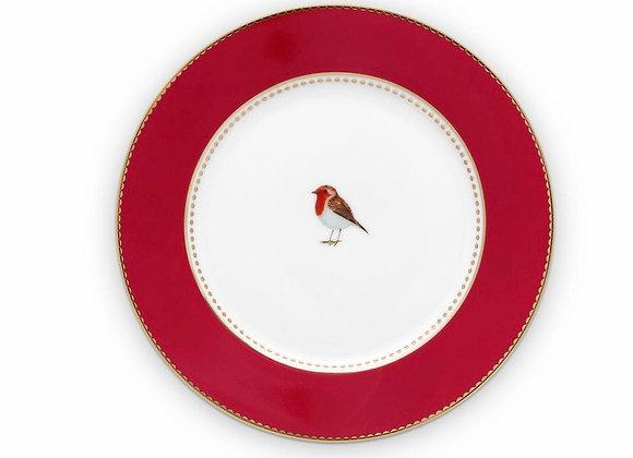 Love Bird Tabak 21 Cm, Kırmızı