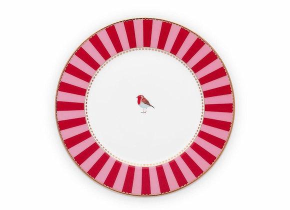 Love Bird Tabak 17 Cm, Kırmızı / Pembe