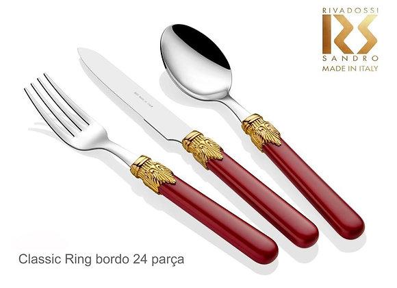 Classic Ring Bordo 24 parça