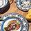 Thumbnail: Mavi Barok Yemek Tabağı 28 Cm