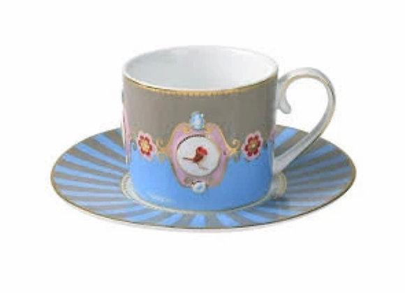 Love Bird Çay Fincanı, Mavi/Haki