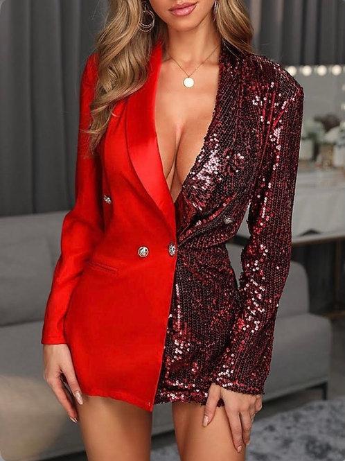 RED SPARK BLAZER DRESS