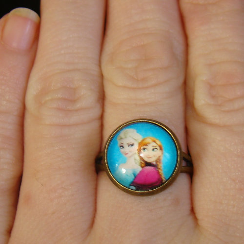 Frozen Anna And Elsa Ring Sizes UK F - P