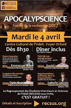 Forum de la recherche 2017