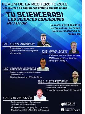 Forum de la recherche 2016
