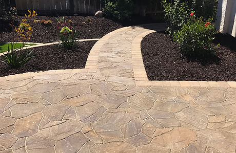 Landscape construction, paver patio