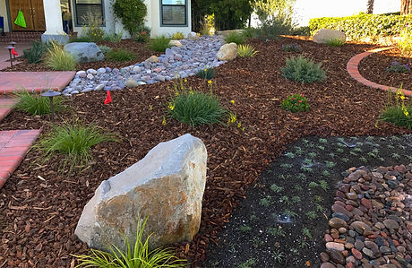 Landscape construction, xeriscaping, softscaping, planting, irrigation.