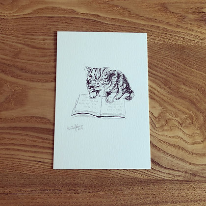 teteオリジナル ポストカード(鉛筆画シリーズ- Never too late to start! / なりたかった自分になるのに遅すぎることはないよ)