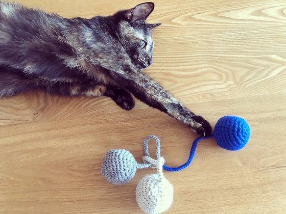 ねこのおもちゃ(ボール)ブルー